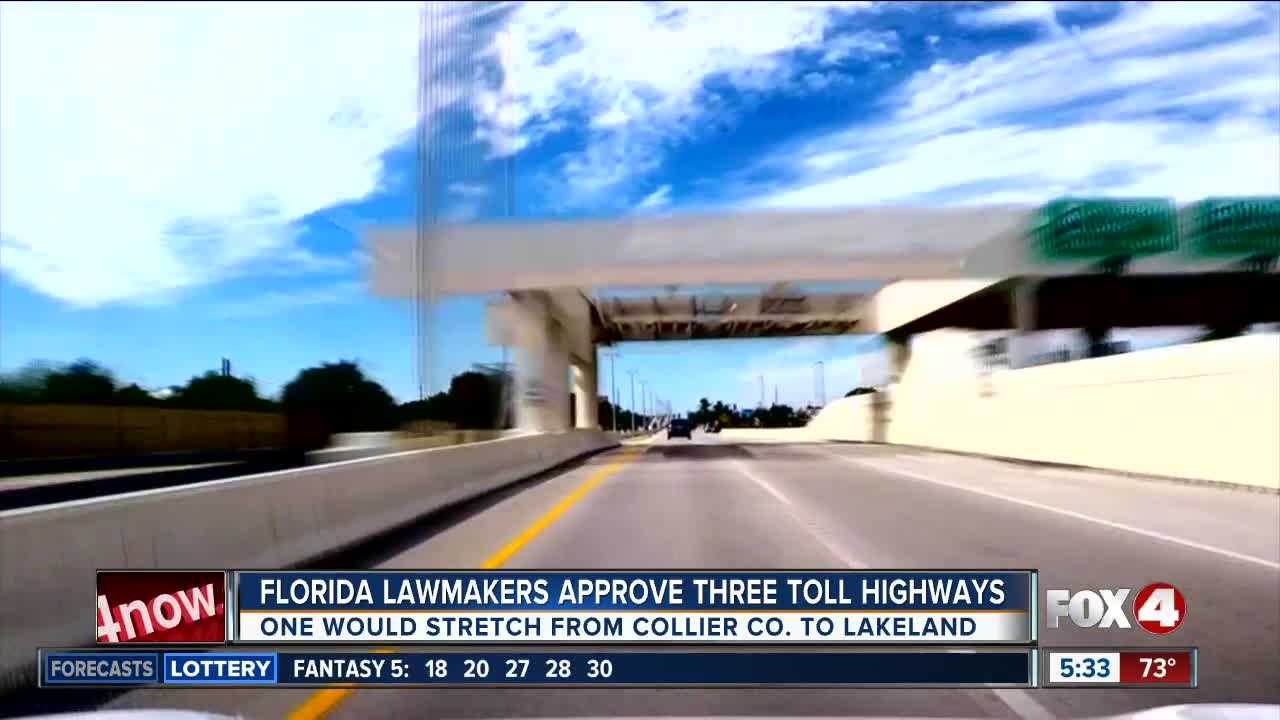 New bill calls for three new toll highways in Florida