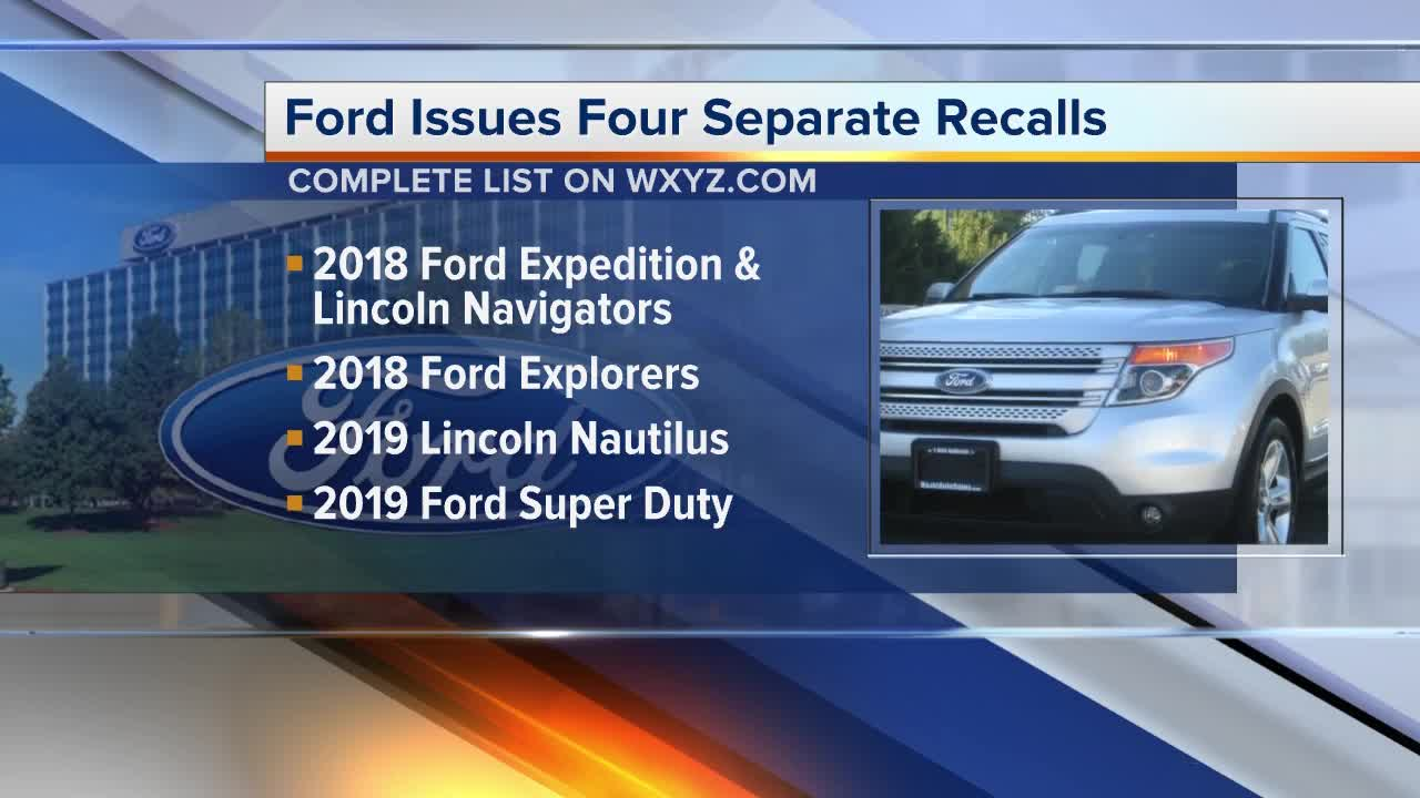 Ford issues four separate safety recalls that affect over ... | ford recalls