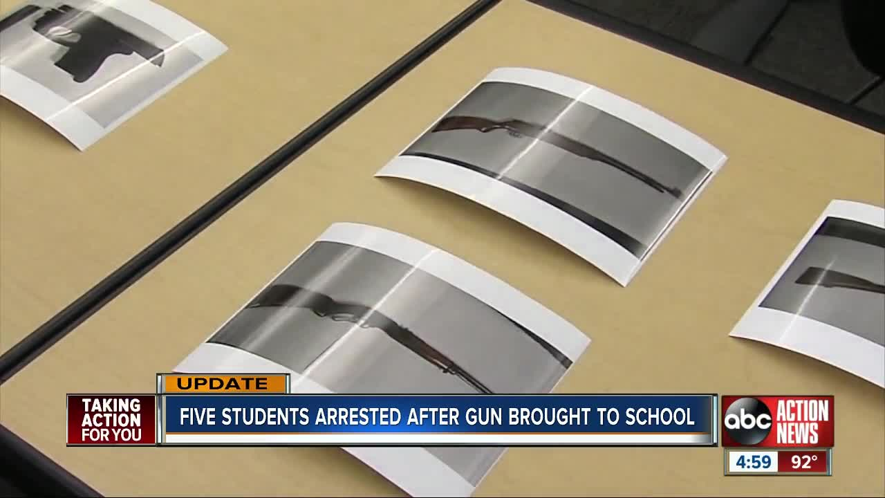 5 students arrested after gun was brought to Hernando High