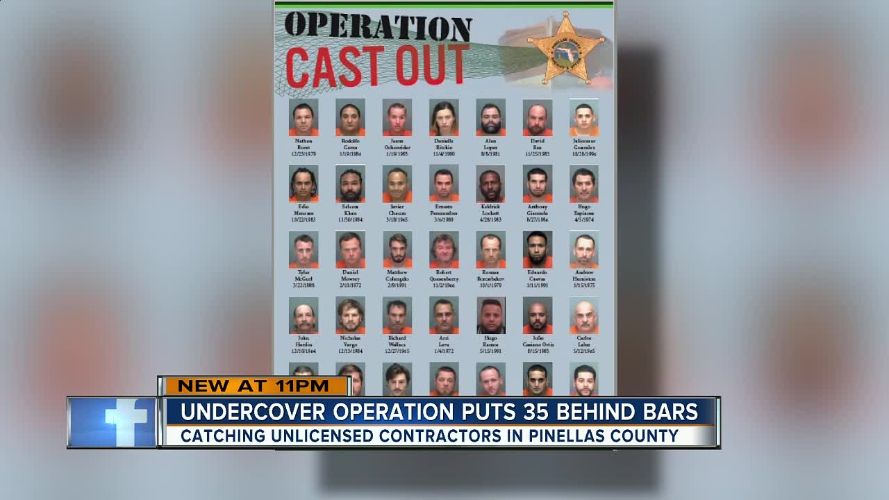 35 unlicensed contractors arrested in undercover sting