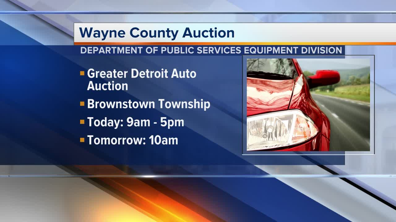 Greater Detroit Auto Auction >> Wayne County To Hold Yearly Equipment Auction On March 9
