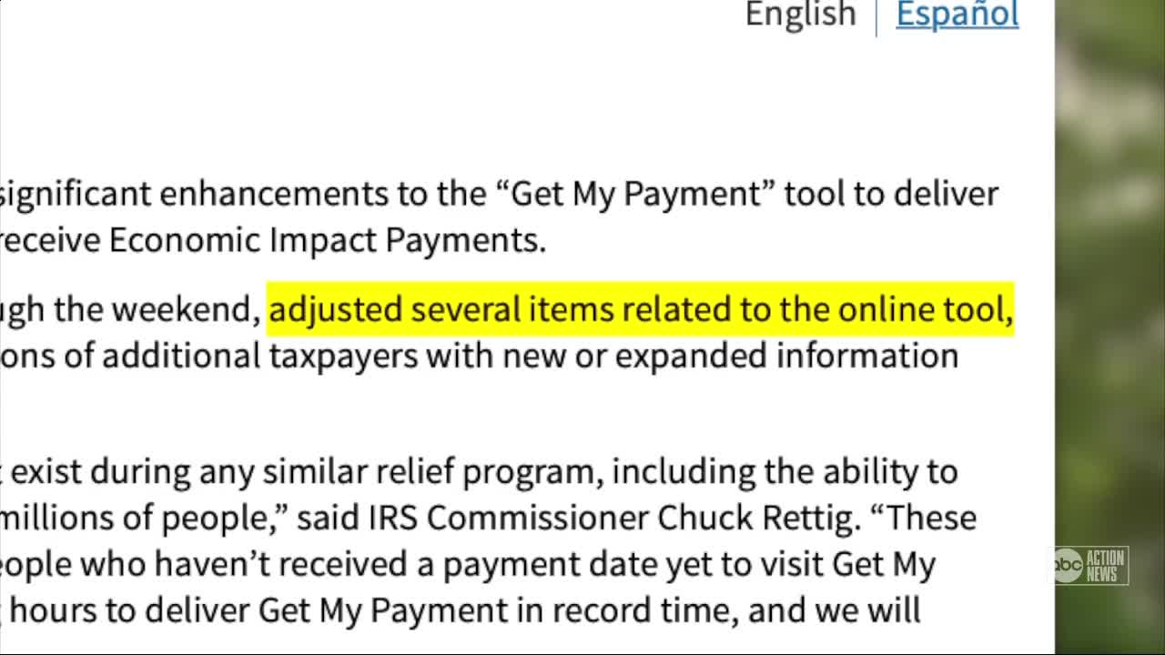 IRS Makes Enhancements to Stimulus Payment Web Tool