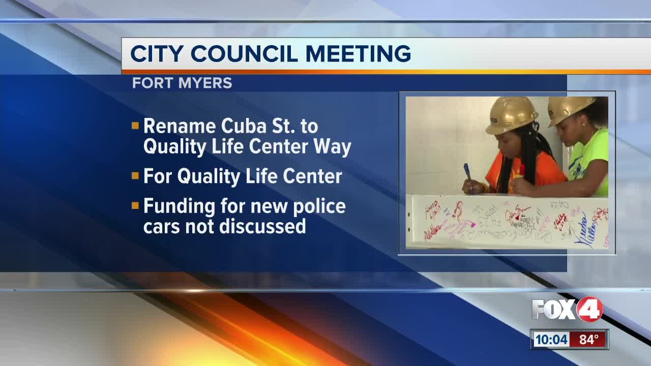Cuba Street to be renamed Quality of Life Center Way in Fort Myers