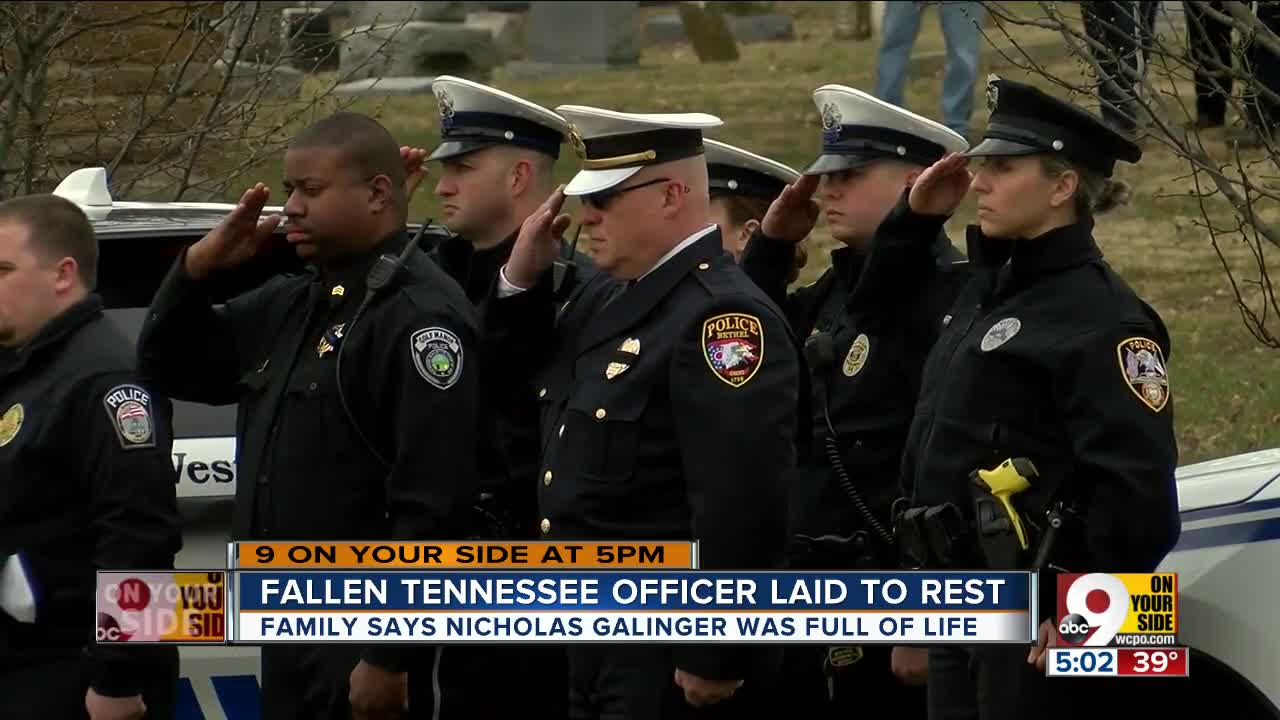 Tennessee police officer laid to rest in Cincinnati