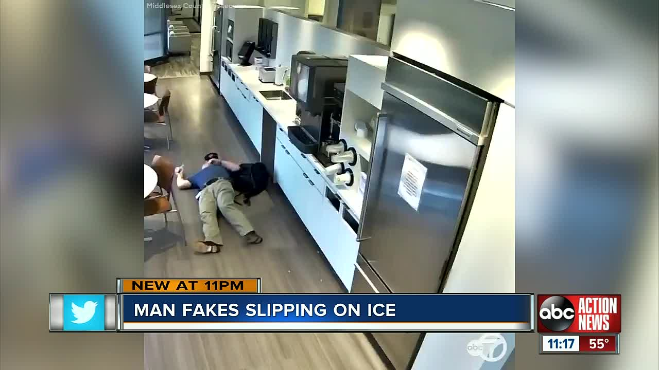 Man arrested for faking a fall at work for insurance money