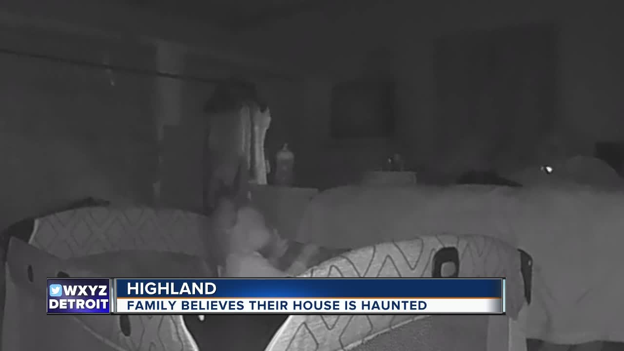 Parents say ghost caught on camera scratched their little girl