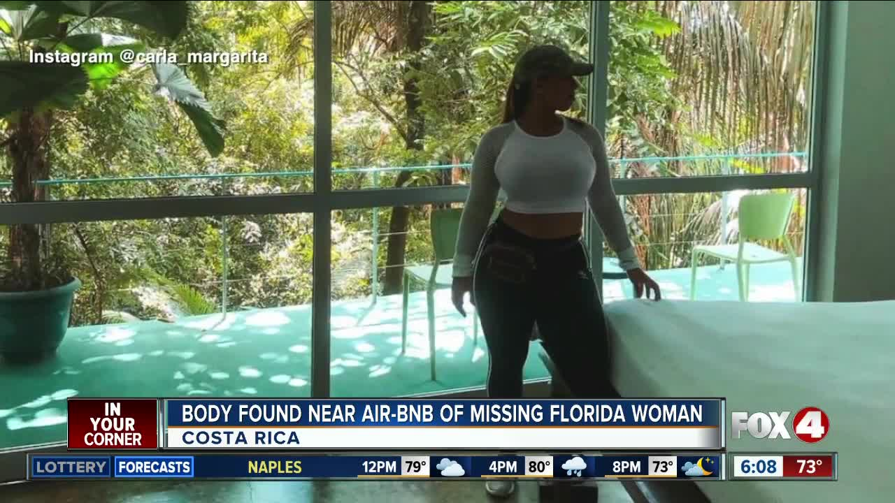 Body found during search for U.S. tourist missing in Costa Rica