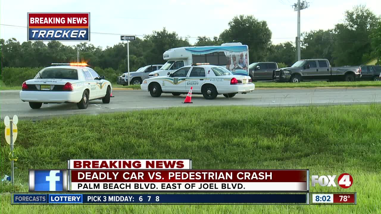 Early morning deadly crash shuts down SR 80 on Palm Beach Blvd