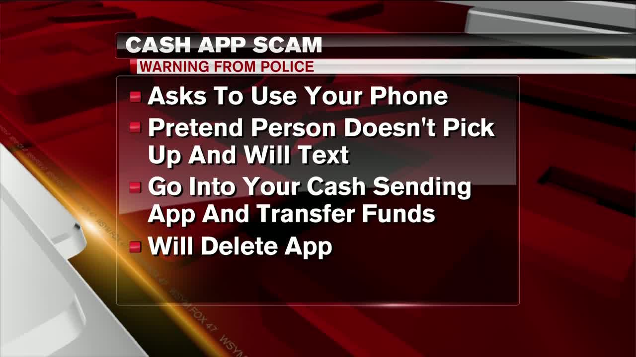Police warning people about cash app scam