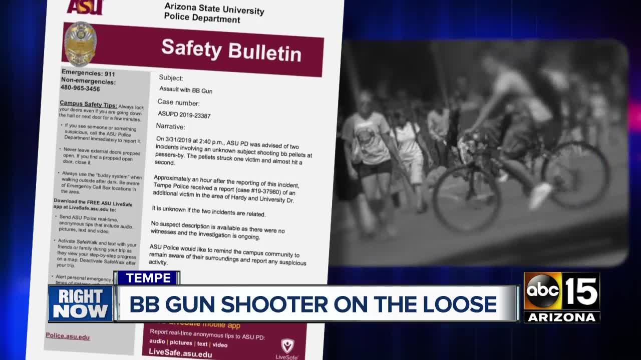 ASU police: BB gun shooter on the loose