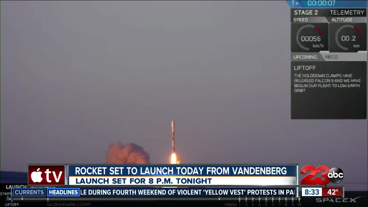 Vandenberg Air Force base reschedules rocket launch
