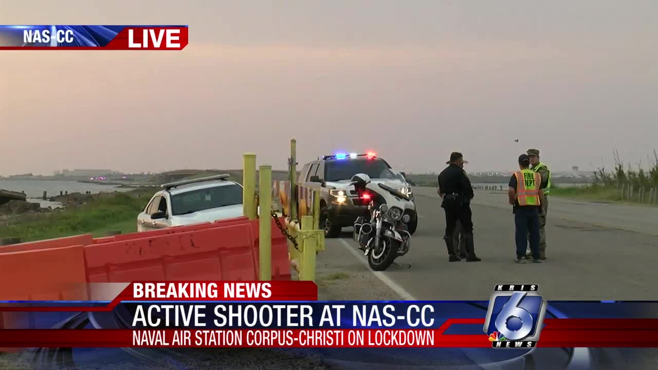 U.S. air base on lockdown over 'active shooter' - 'Stay away from windows'
