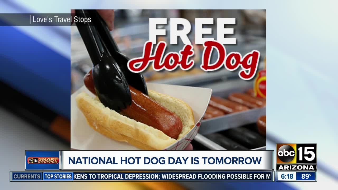 National Hot Dog Day freebies