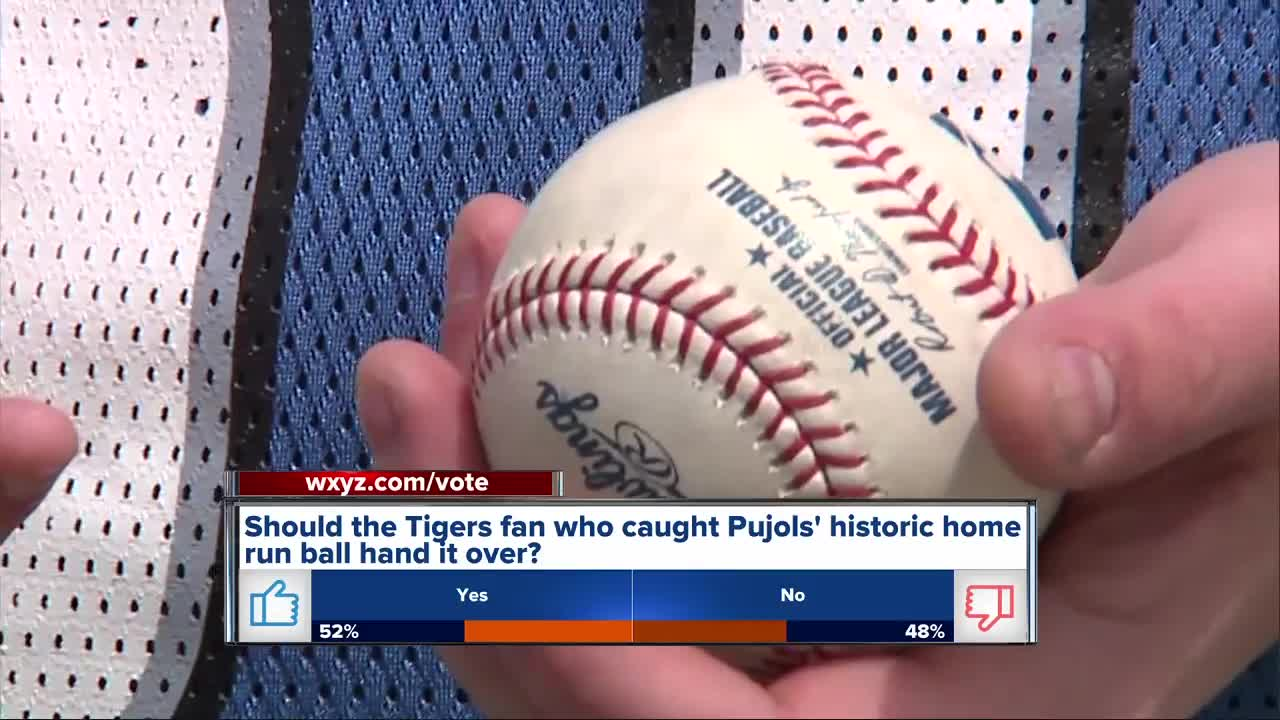 Tigers fan changes mind about Albert Pujols' historic HR ball