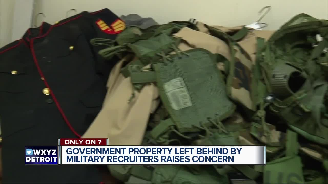 Exclusive video of military items left behind at recruitment