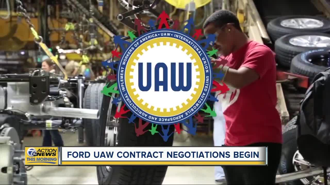 ford  uaw to officially begin contract negotiations