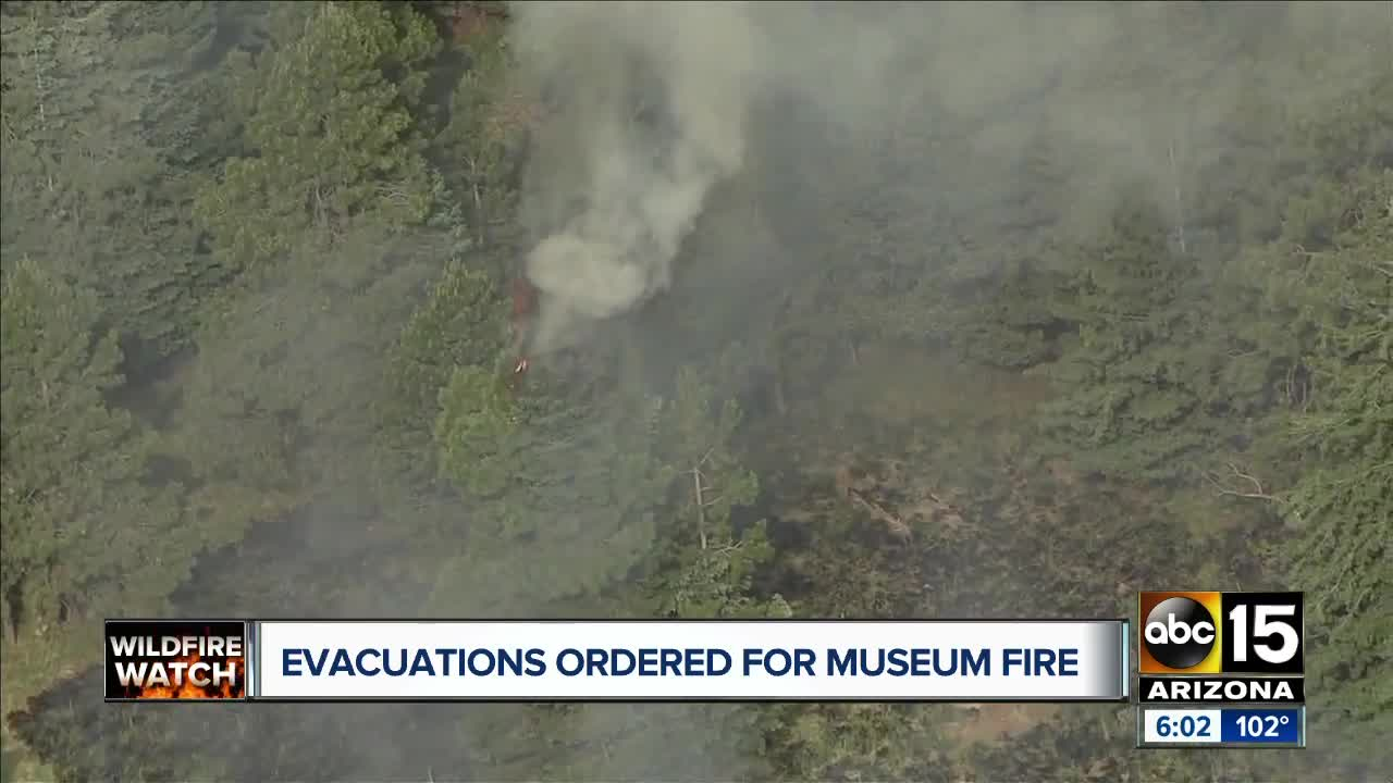 A wildfire in Arizona has grown to 1,800 acres  Authorities