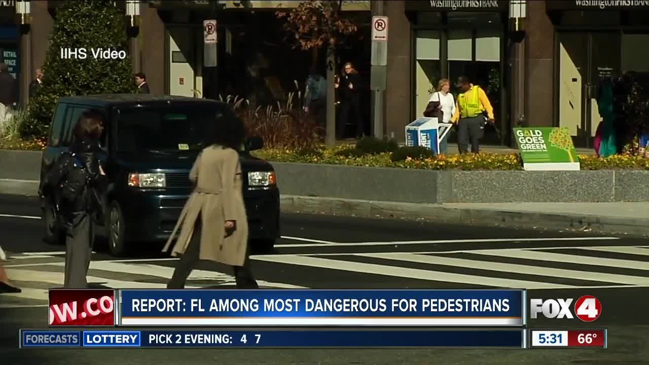 New report finds pedestrian deaths at an all time high in