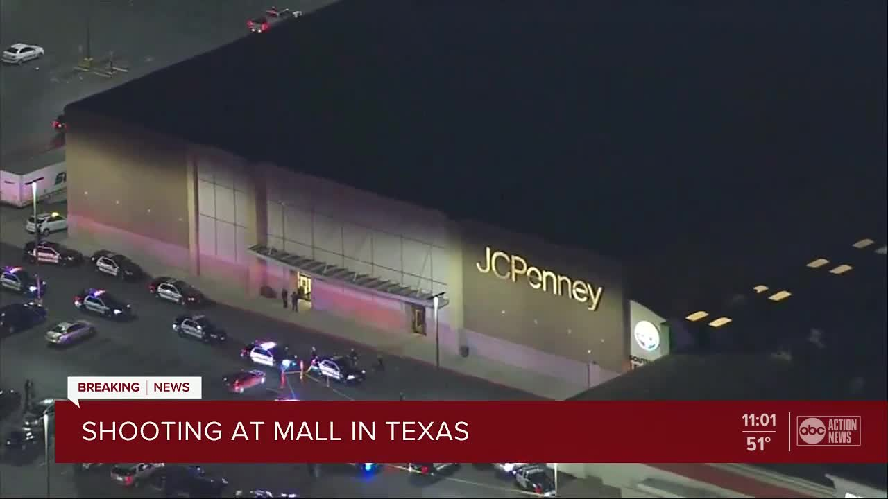 Police search for suspects after 4 shot at San Antonio mall