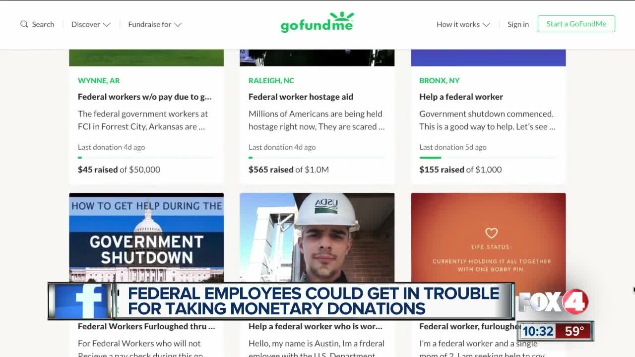Federal government workers seeking donations through GoFundMe
