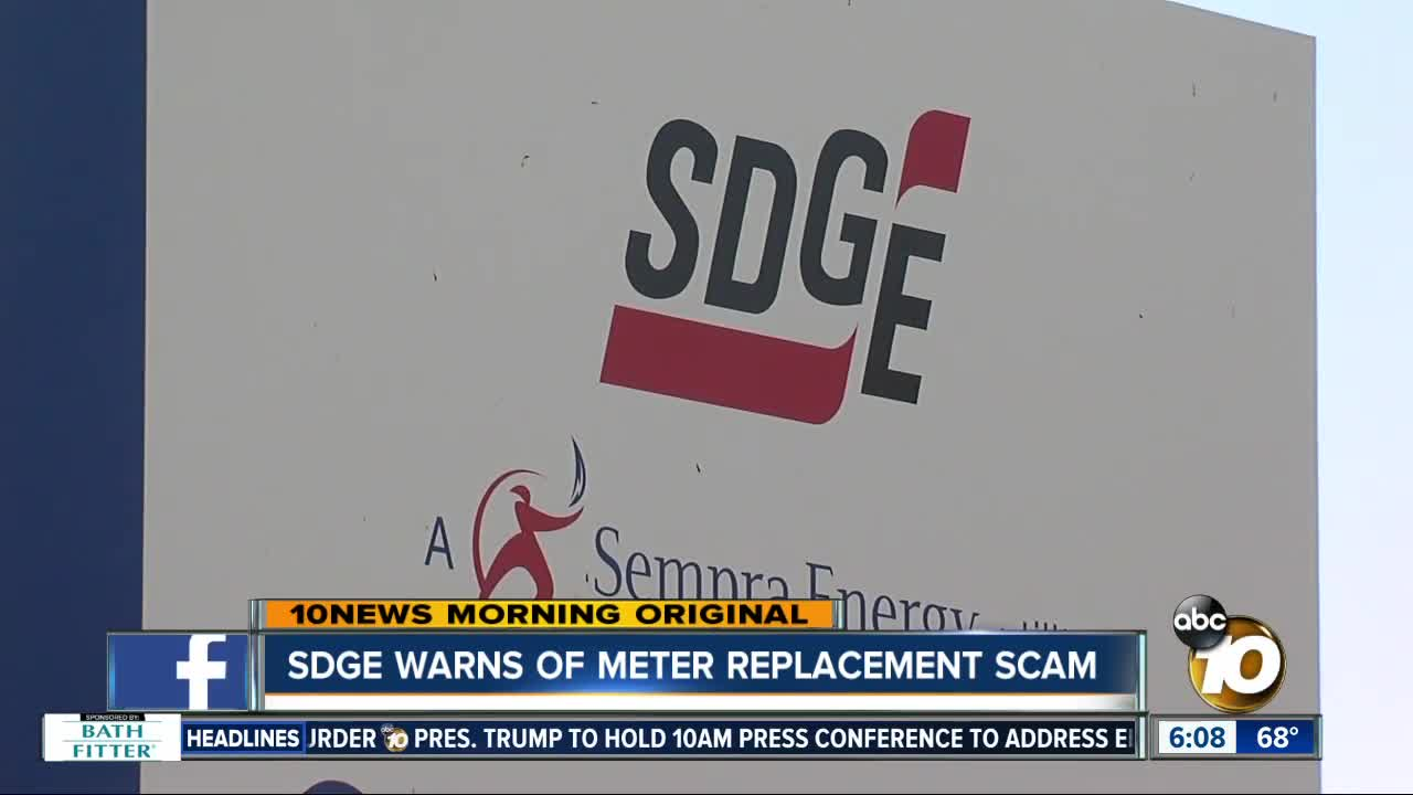 SDG&E Warning Customers About Scams Over New Electrical Meters