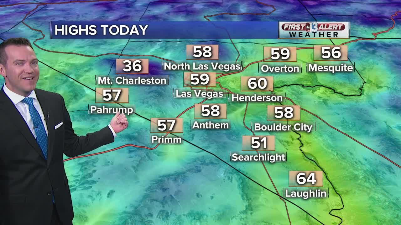 First Friday Las Vegas Map.13 First Alert Weather Forecast Las Vegas Weather
