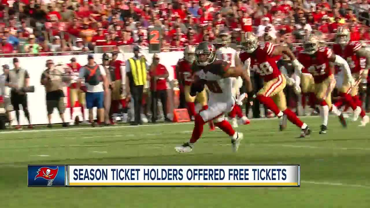 158ae824 Tampa Bay Buccaneers offer free tickets to season-ticket holders