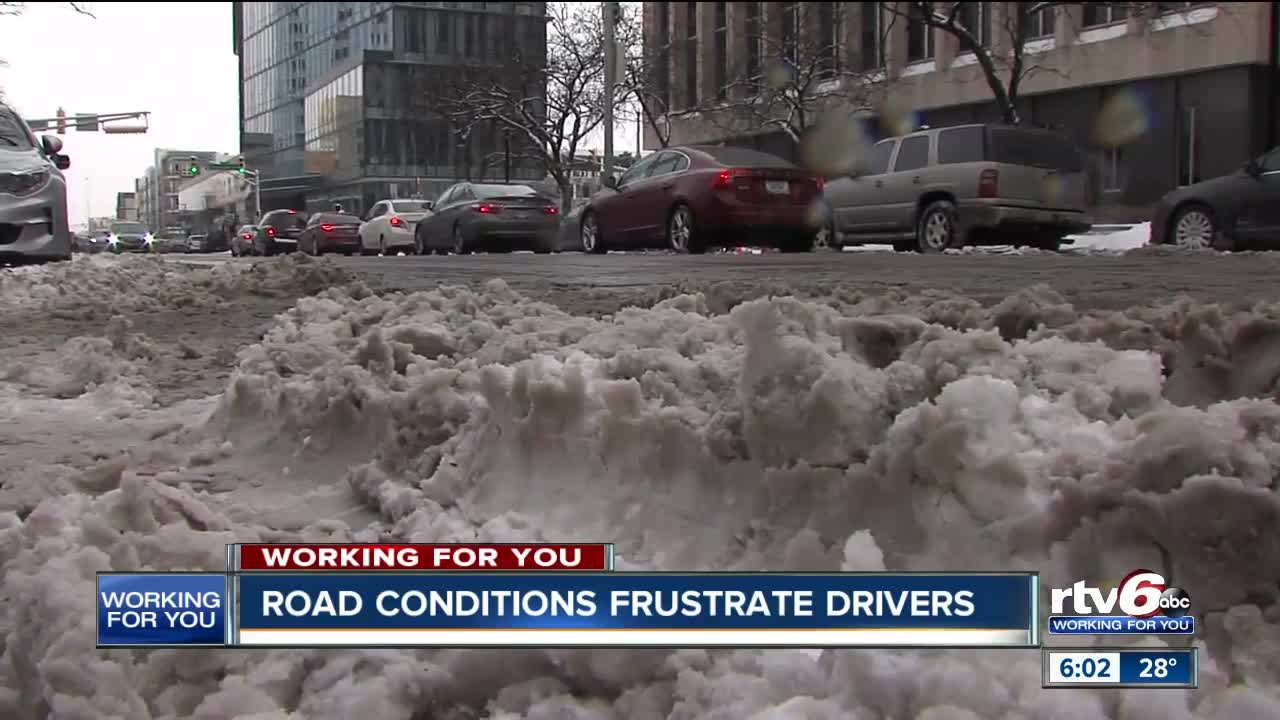 Road conditions frustrate drivers