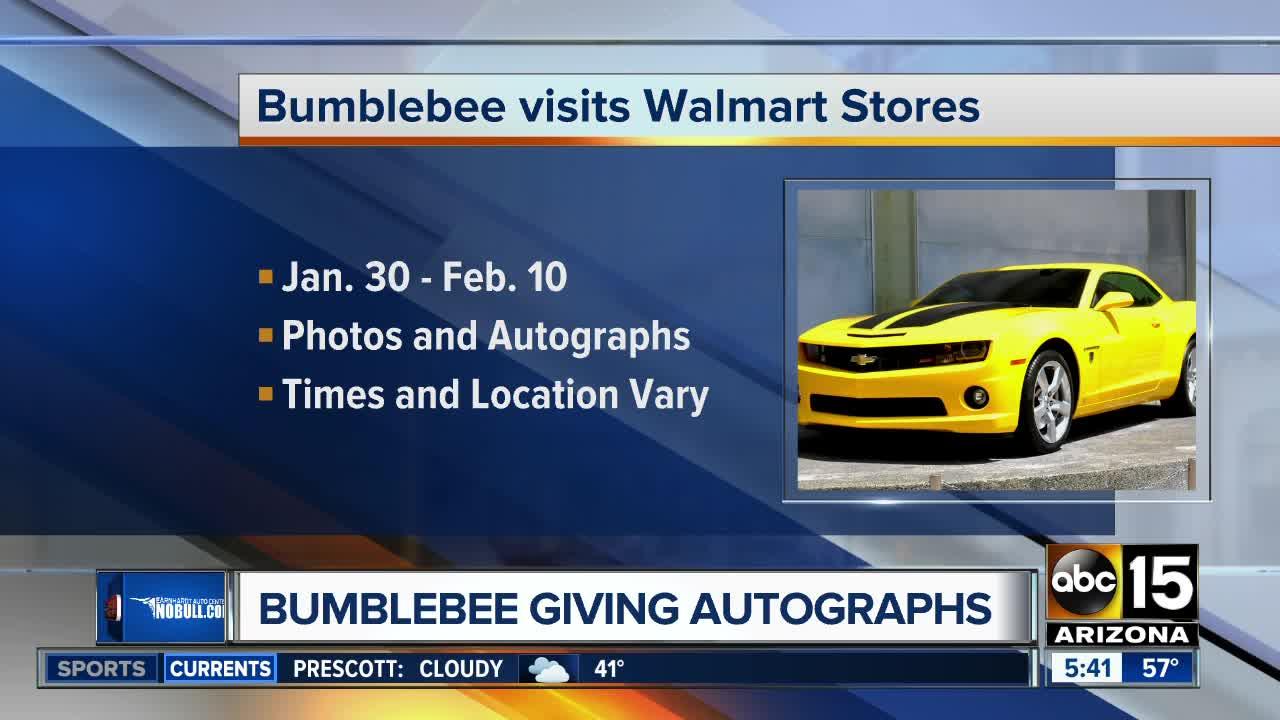 Bumblebee' Transformer to visit 28 Phoenix Walmart stores