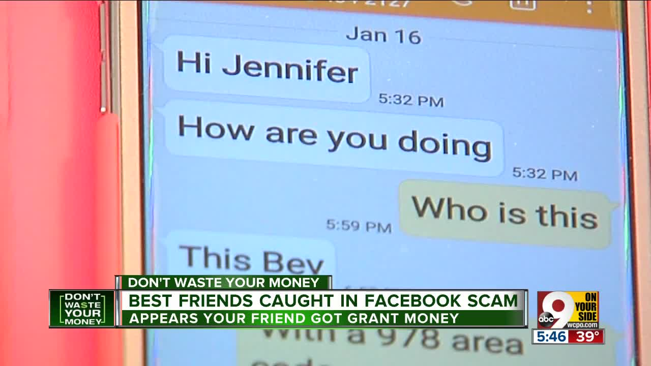 Best friends fall victim to Facebook grant scam