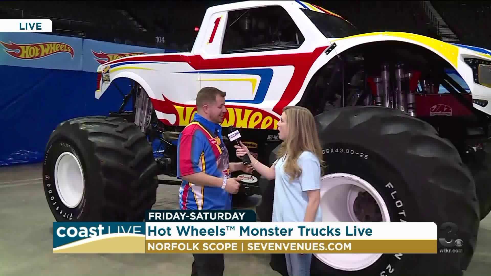 A Preview Of The Hot Wheels Monster Truck Show Live On Coast Live