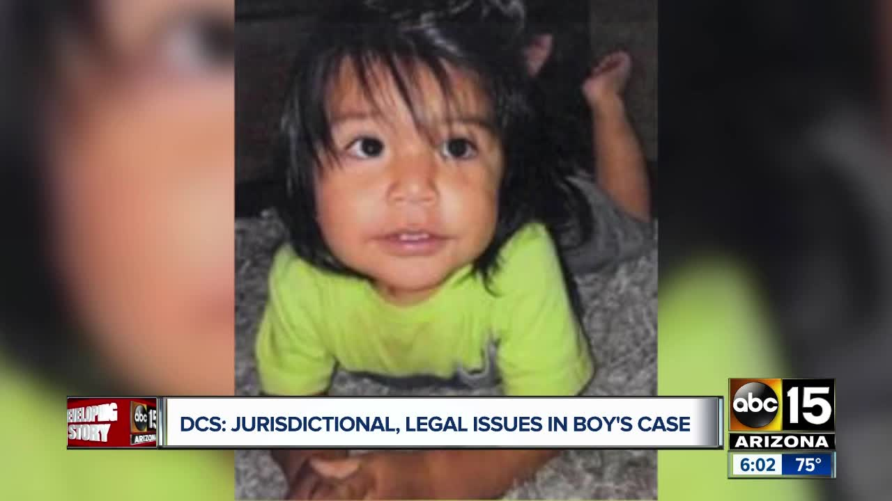 DCS claims 'jurisdictional, legal issues' in Phoenix toddler's death