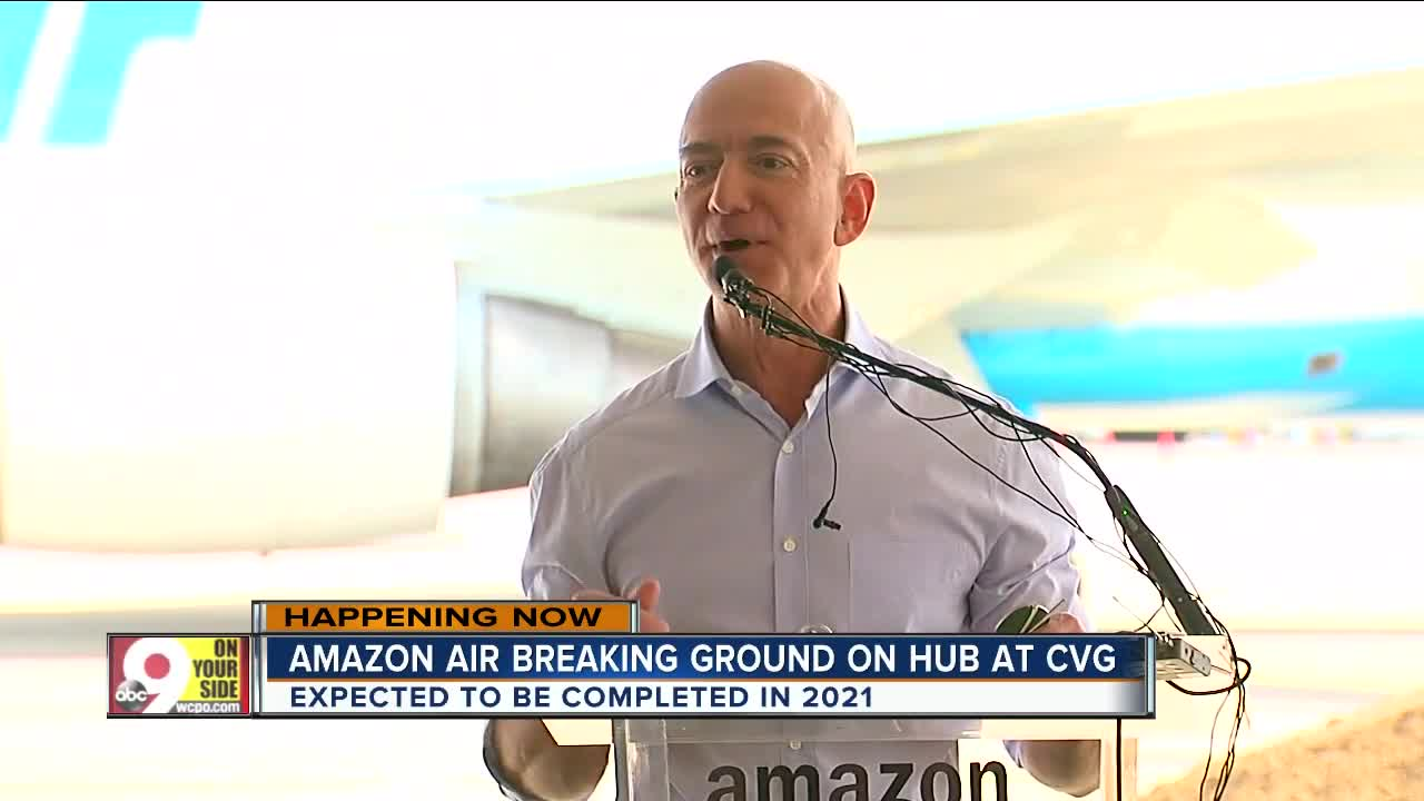 Amazon breaks ground on $1.5 billion Prime Air hub at CVG