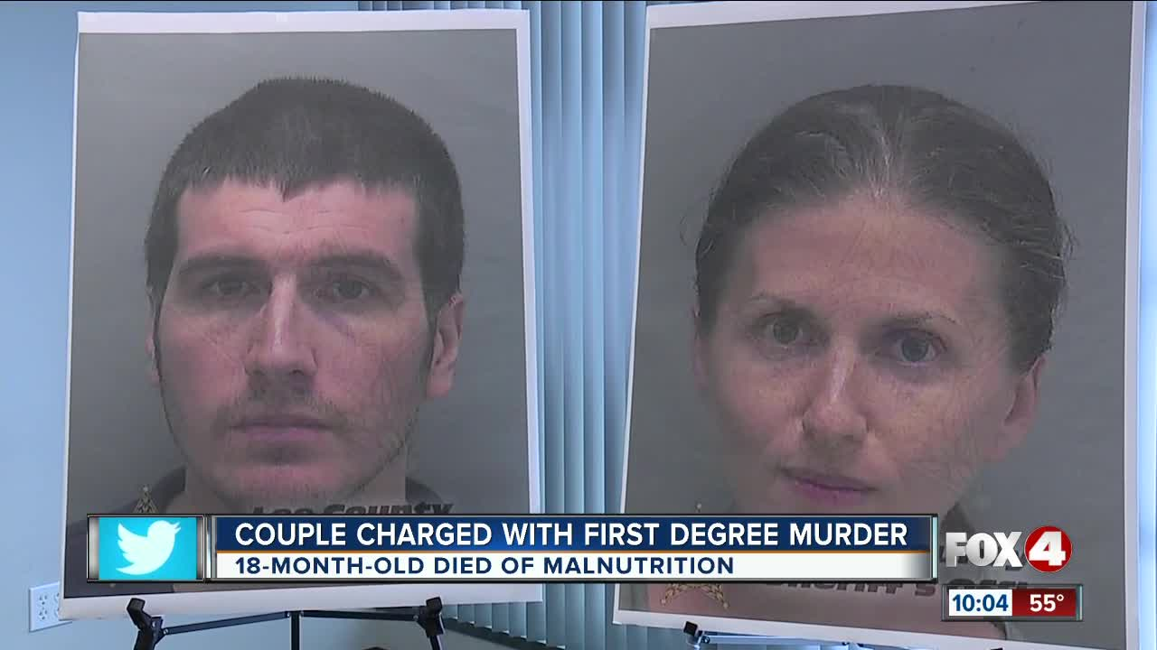 Parents charged with murder in toddler's malnutrition death
