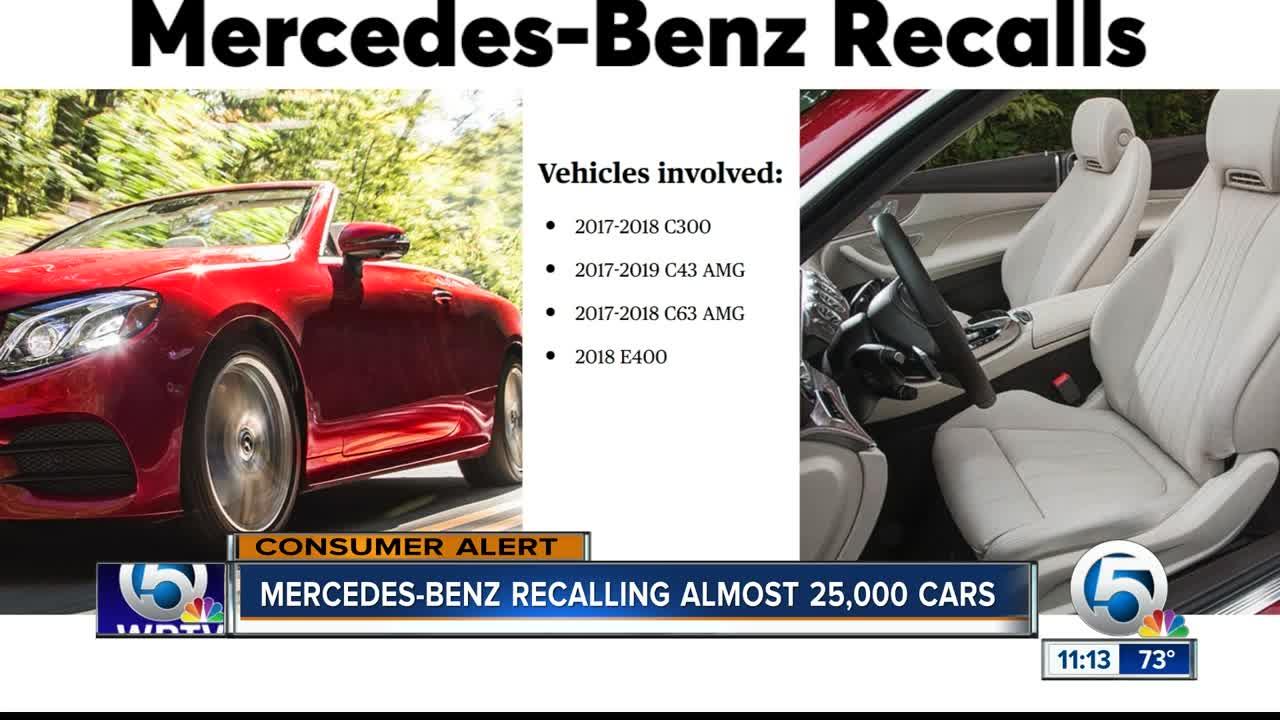 Report: Mercedes-Benz recalling more than 22,000 vehicles