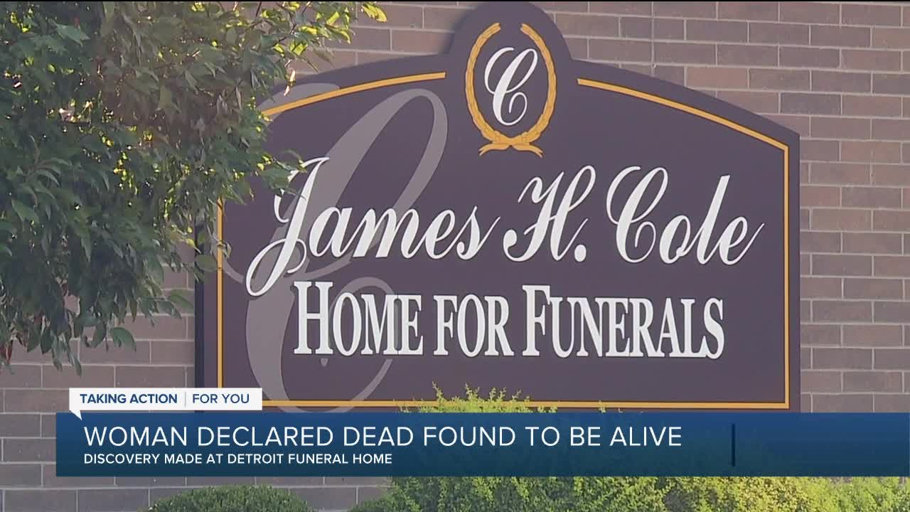 Woman found alive in funeral home after being declared dead