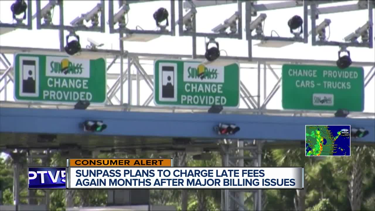 Florida Dept  of Transportation to reinstitute late SunPass fees at