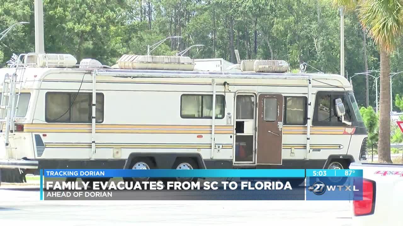 Family evacuates from South Carolina to Florida ahead of