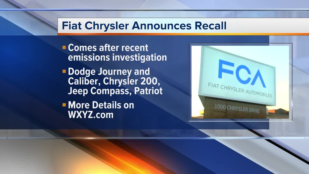 Fiat Chrysler recalling almost  900,000 vehicles on emissions