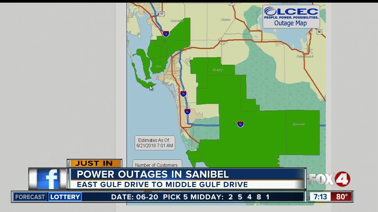 Power Restored On Sanibel After Thursday Morning Outage