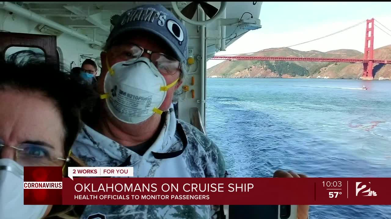 Canadians flown home from US-docked cruise ship