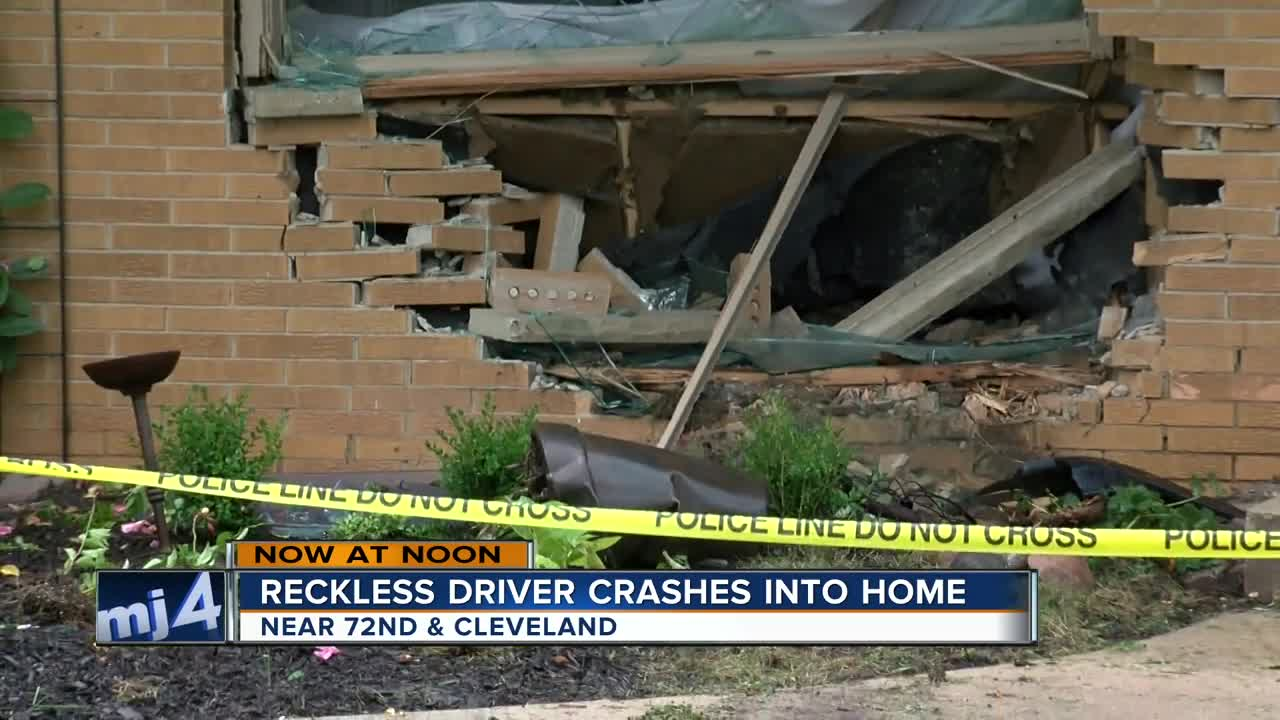 Vehicle pursuit by police ends inside West Allis brick home