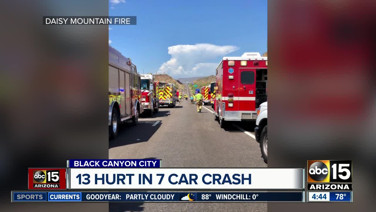 NB I-17 reopened near Black Canyon City after multi-vehicle wreck