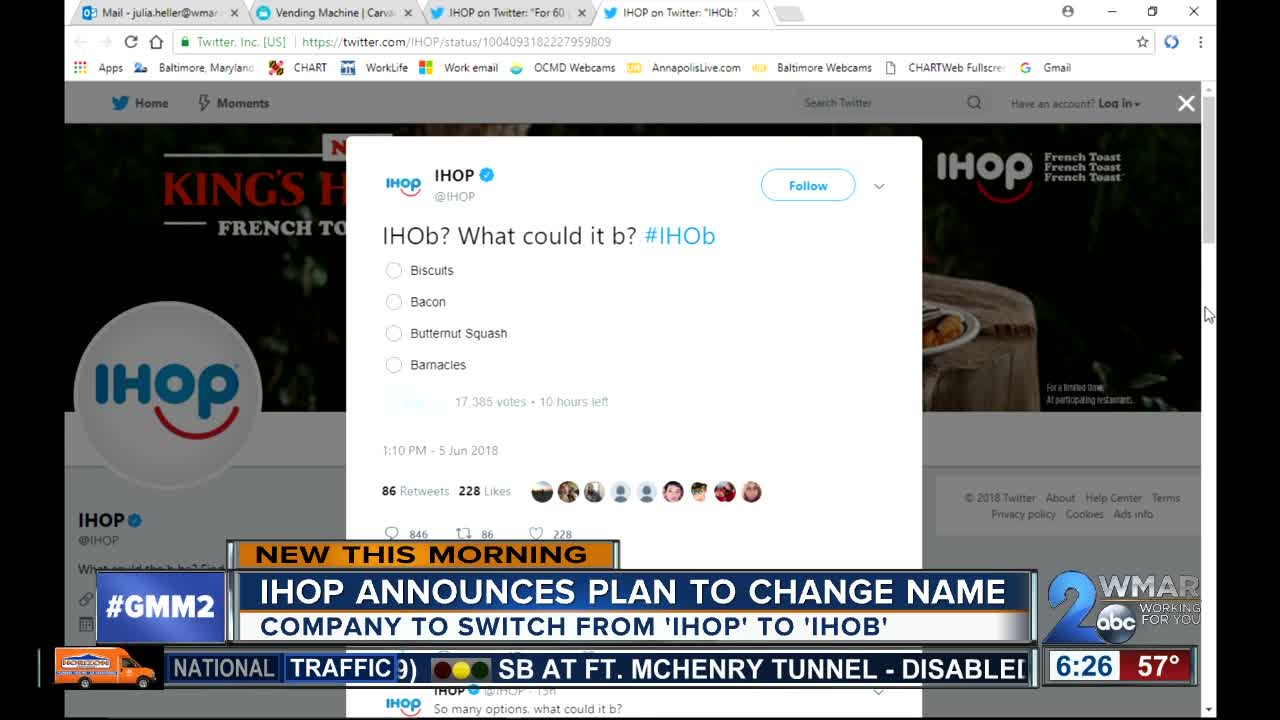 IHOP announces name change - WMAR2NEWS