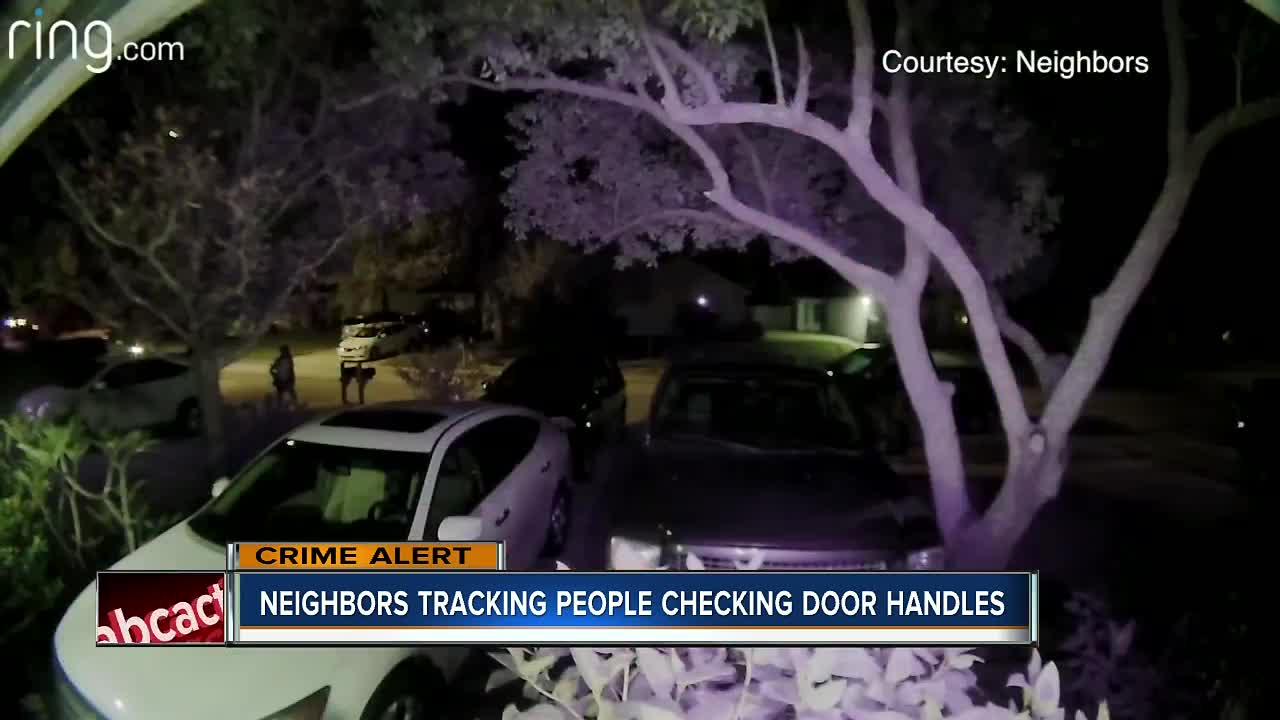 People caught on camera checking door handles in Countryway