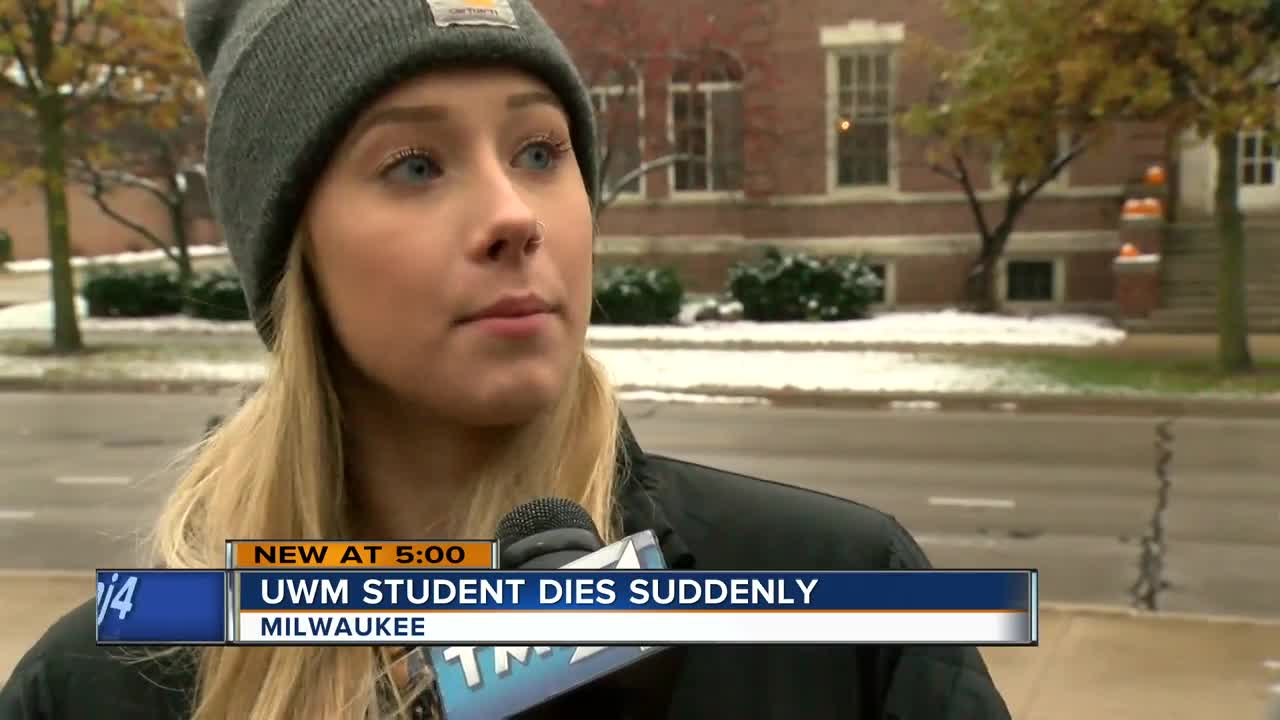 Students at UWM stunned after sudden death of freshman classmate