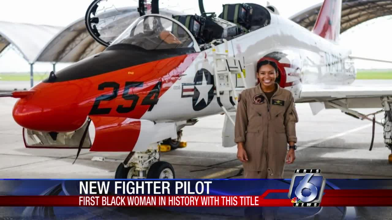 First Black female US Navy fighter pilot completes training at NAS Kingsville
