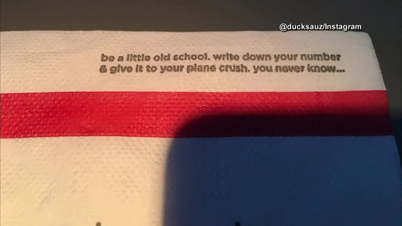 Creepy napkins getting pulled from Delta planes