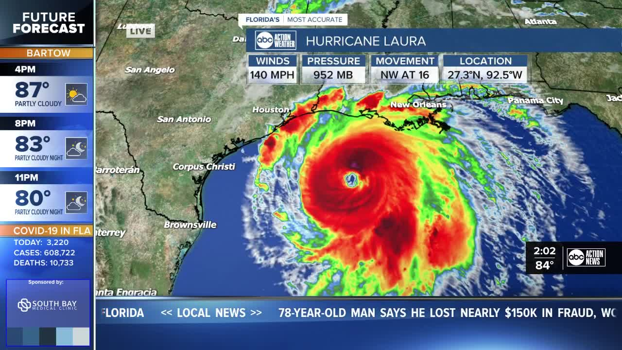 Hurricane Laura Menaces US Gulf Coast as Powerful Category 4
