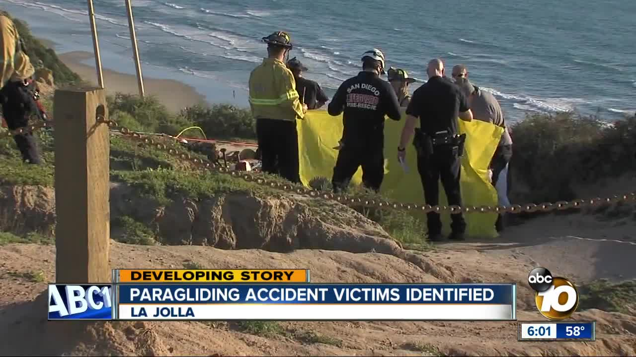 Victims in deadly paragliding accident at Torrey Pines Gliderport